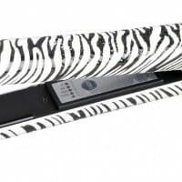 Hair Straightener Iron Zebra Print Ceramic Professional Immediate Heat Up